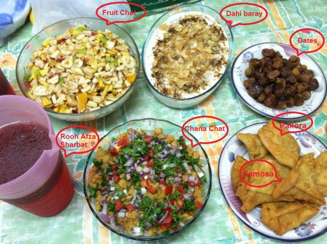 typical iftar dishes karachi